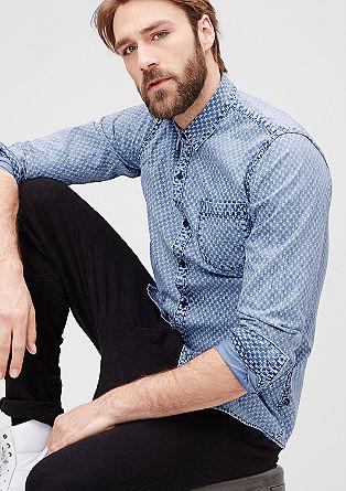 Extra slim: overhemd met fijn motief