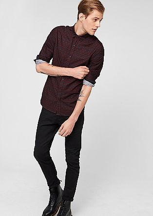 Extra slim: overhemd met Incamotief