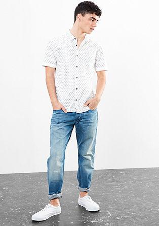 Extra slim: overhemd met motiefje