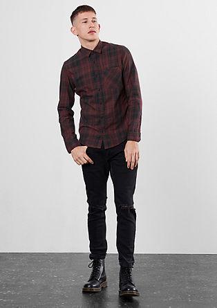 Extra slim: overhemd van fijne twill