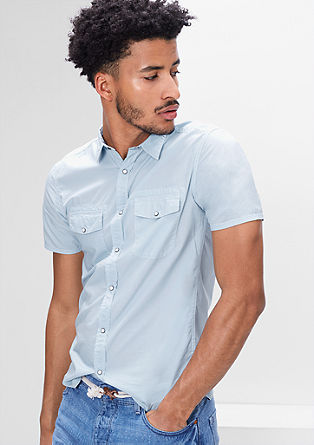 Extra Slim: Pale blue shirt from s.Oliver