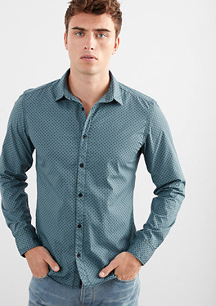 Extra Slim: shirt with a minimalist pattern from s.Oliver
