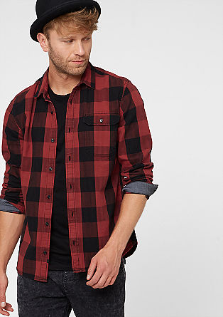 Extra Slim: shirt with large checks from s.Oliver
