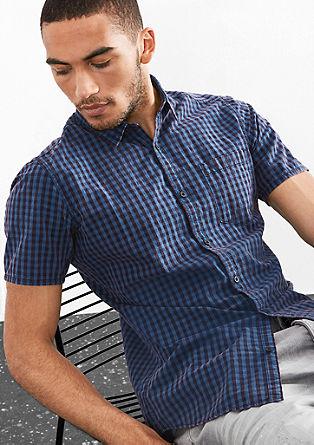 Extra Slim: Vichy-Kurzarmhemd