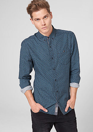 Extra slim finely patterned shirt from s.Oliver