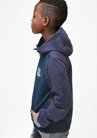 Fabric mix hoodie from s.Oliver