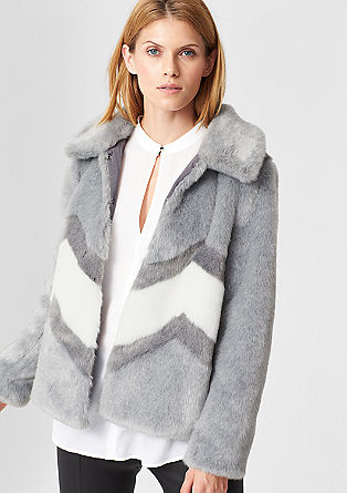 Fake Fur-Jacke in Chinchilla-Optik