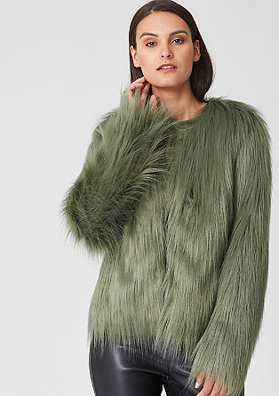 Fake fur jacket from s.Oliver