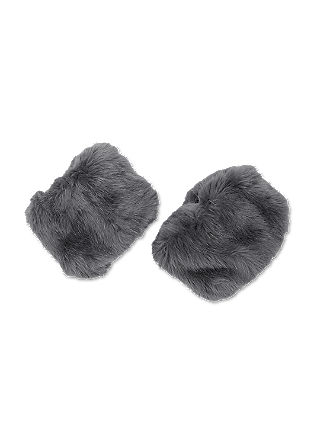Fake fur leg warmers from s.Oliver