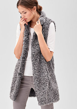 Fake fur waistcoat from s.Oliver