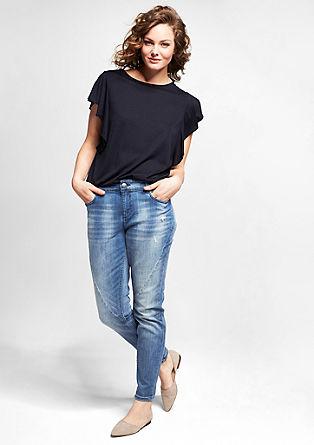 Fancy: Verkürzte Jeans mit Nieten