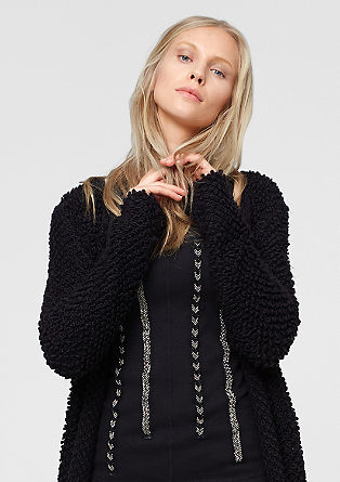 Fancy cardigan with alpaca from s.Oliver