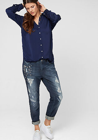 Fancy Fit: glamorous, distressed jeans from s.Oliver