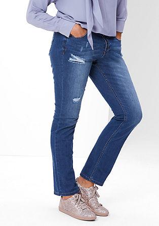 Fancy fit: jeans met slijtageplekken