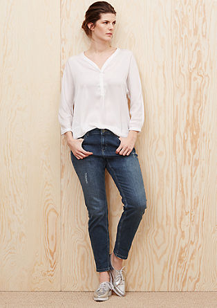 Fancy Fit: jeans with distressed details from s.Oliver
