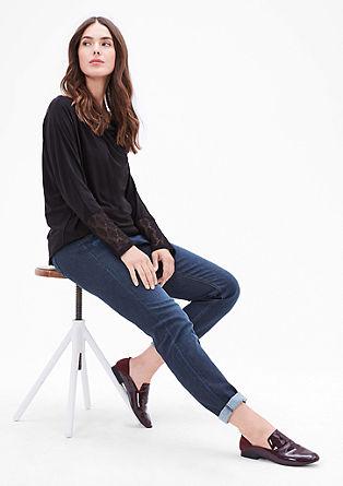Fancy Fit: temne raztegljive jeans hlače