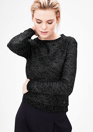 Fancy-Sweater mit Glitzer