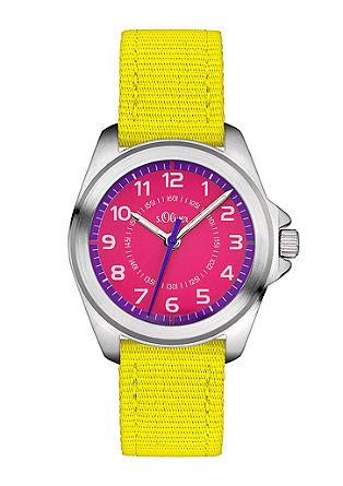 Farbige Canvas-Armbanduhr