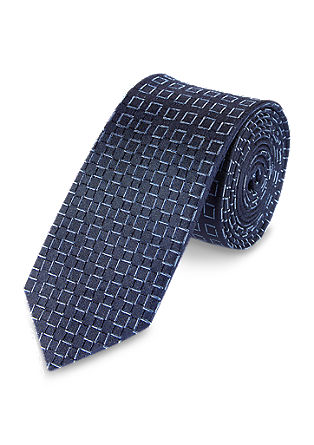 Fashionable check silk tie from s.Oliver