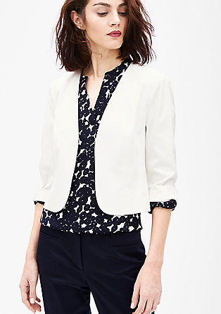 Fashionable cotton satin blazer from s.Oliver
