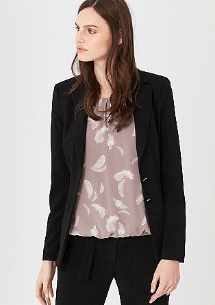 Fashionable crêpe blazer from s.Oliver