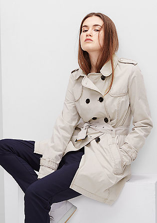 Fashionable trench coat with a belt from s.Oliver