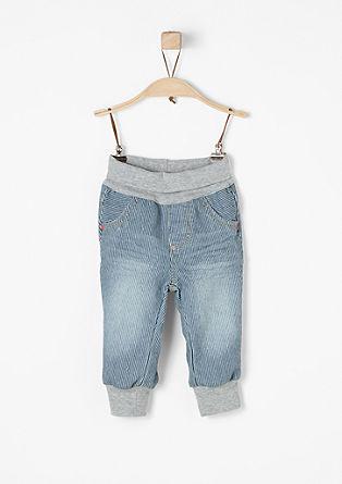 Fein gestreifte Jeans