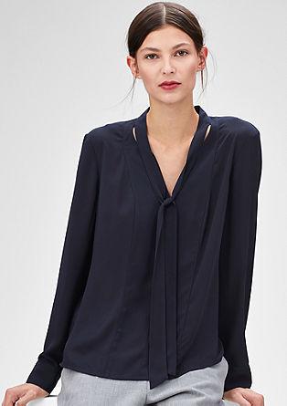 Feine Crêpe-Bluse mit Schluppe