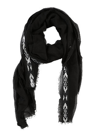 Feiner Schal mit Pailletten-Bordüre