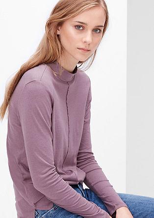 Feines Shirt mit Stehkragen