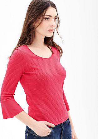 Feinstrick-Pullover im Ringel-Look