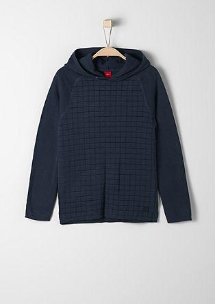 Feinstrick-Pullover mit Kapuze