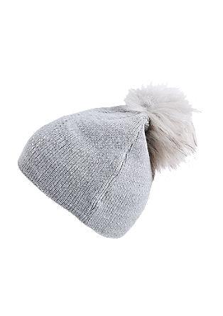 Feinstrickmütze mit Fake Fur