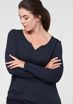 Feminine, basic long sleeve top from s.Oliver