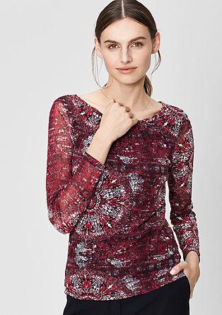 Feminine mesh top from s.Oliver