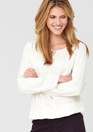 Feminine O-Shape-Bluse