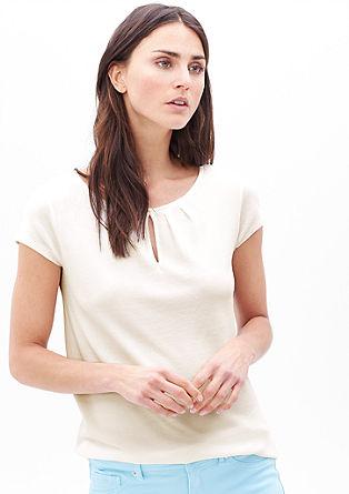 Feminines Shirt mit Piqué-Struktur