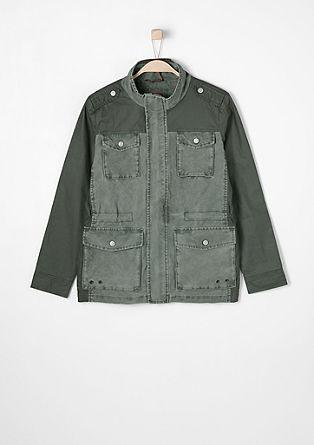 Field jacket met contrasten