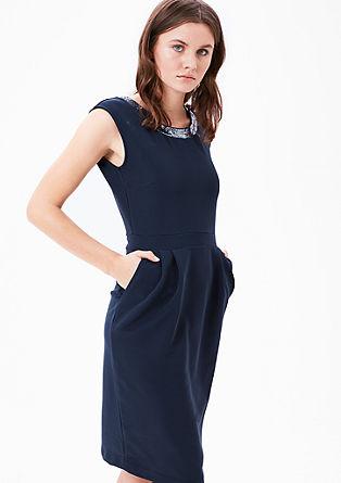 Fijn geribde jurk met pailletjes