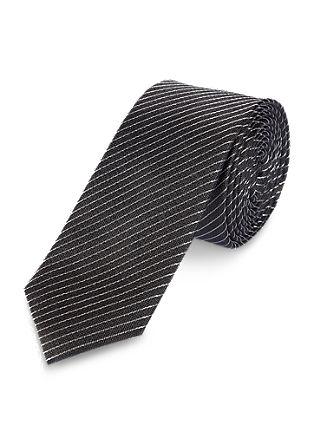 Fijn gestreepte zijden stropdas