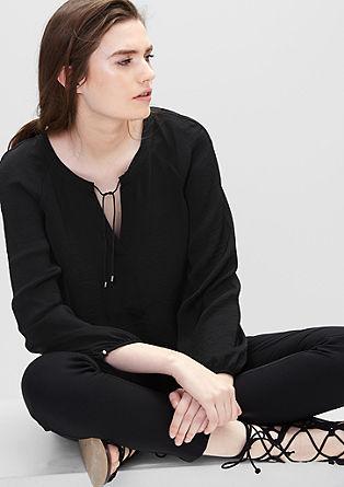 Fijne blouse met bindkoordje