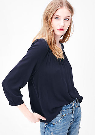 Fijne crêpe blouse