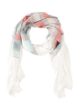 Fijne geweven sjaal met strepen