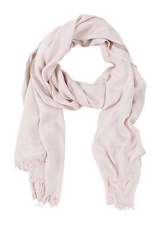 Fijne sjaal met franjes