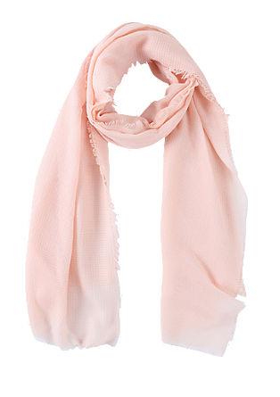 Fijne sjaal van wafelpiqué