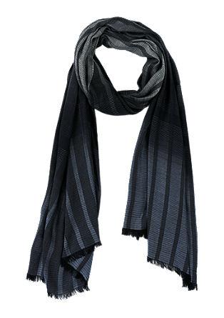 Fijne viscose sjaal met strepen