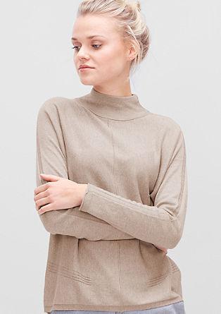 Fijngebreide trui met turtleneck