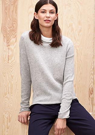 Fijngebreide trui van kasjmier