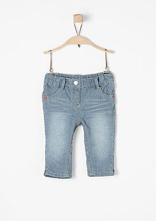 Fijngestreepte broek