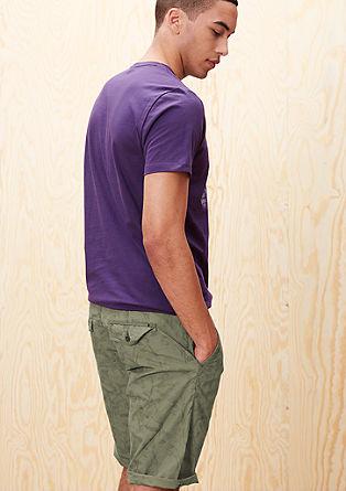 File Loose: bermuda hlače z potiskom po celotnem oblačilu